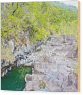 Petrohue River In Vicente Perez Rosales National Park Near Puerto Montt-chile Wood Print