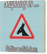 Petting Bigstock Donkey 171252860 Wood Print