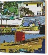 Petty Harbor Wood Print