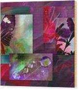Petunia Collage Wood Print