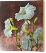 Petunias Delight Wood Print