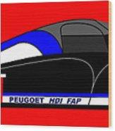 Peugeot 908 Hdi Sat - No. 8 Wood Print