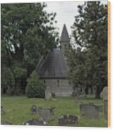 Pewsey Parish Council Cemetary Wood Print