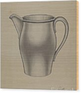 Pewter Pitcher Wood Print