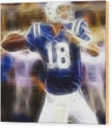 Peyton Manning Wood Print by Paul Ward