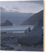 Pfeiffer Beach - Big Sur Wood Print by Stephen  Vecchiotti