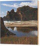 Pfeiffer Beach Landscape In Big Sur Wood Print