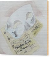 Phantom's Mask Wood Print