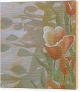 Phantom Tulips Wood Print