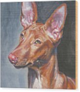 Pharaoh Hound Wood Print by Lee Ann Shepard
