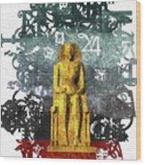Pharaoh Of Egypt Wood Print