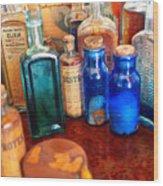 Pharmacist - Medicine Cabinet  Wood Print by Mike Savad