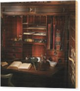 Pharmacist - The Pharmacists Desk Wood Print