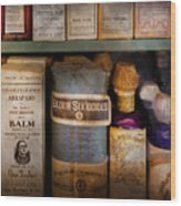 Pharmacy - Oils And Balms Wood Print