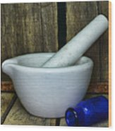 Pharmacy - Mortar And Pestle - Square Wood Print