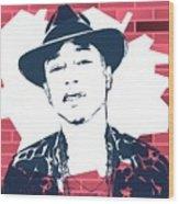 Pharrell Graffiti Tribute Wood Print