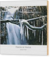 Phases Of Water Wood Print