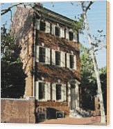 Phiily Row House 1 Wood Print