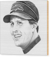 Phil Mickelson Wood Print