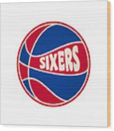 Philadelphia 76ers Retro Shirt Wood Print