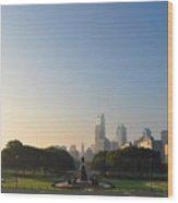 Philadelphia Across Eakins Oval Wood Print