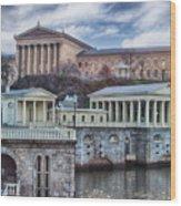 Philadelphia Art Museum At The Water Works  Wood Print