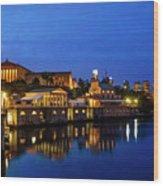 Philadelphia Art Museum - City Lights Wood Print