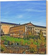 Philadelphia Art Museum From West River Drive. Wood Print
