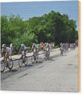 Philadelphia Bike Race - Manayunk Avenue Wood Print