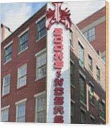 Philadelphia - Bookbinders Wood Print