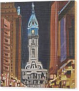 Philadelphia City Hall Wood Print