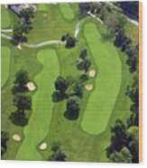 Philadelphia Cricket Club Wissahickon Golf Course 18th Hole Wood Print