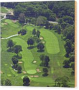 Philadelphia Cricket Club Wissahickon Golf Course 1st And 18th Holes Wood Print by Duncan Pearson