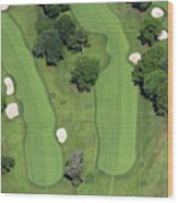 Philadelphia Cricket Club Wissahickon Golf Course 4th Hole Wood Print by Duncan Pearson