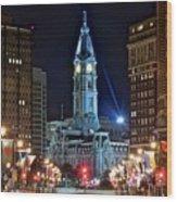 Philadelphia Downtown Wood Print
