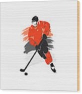Philadelphia Flyers Player Shirt Wood Print