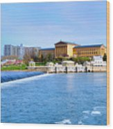 Philadelphia Museum Of Art And The Philadelphia Waterworks Wood Print