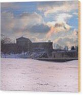 Philadelphia Museum Of Art At Winter Sunrise Wood Print
