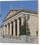 Philadelphia Museum Of Art Wood Print by Brendan Reals