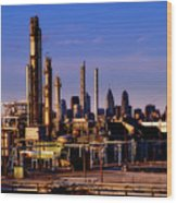 Philadelphia Oil Refinery  Wood Print