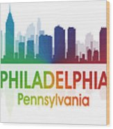 Philadelphia Pa Wood Print