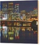 Philadelphia Pa River View Wood Print