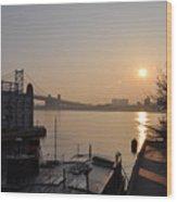 Philadelphia - Penn's Landing Sunrise Wood Print
