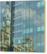 Philadelphia Reflections Wood Print