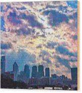 Philadelphia Sky Wood Print