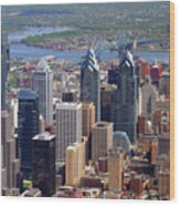 Philadelphia Skyscrapers Wood Print by Duncan Pearson