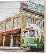 Philadelphia Trolley Wood Print