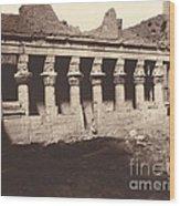Philae, Cour Int?rieure, Colonnade De L'ouest Wood Print