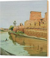 Philae On The Nile Wood Print by Alexander West