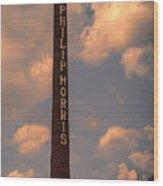 Philip Morris Cigarette Factory Wood Print